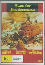 GUNS FOR SAN SEBASTIAN - ANTHONY QUINN & CHARLES BRONSON ALL REGION DVD *