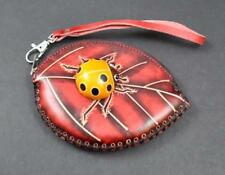 Handmade Leather 3D Animal Ladybug Coin Purse Pocket Handbag Man Women Child P9