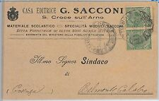 CARTOLINA d'Epoca -  PISA provincia : Santa Croce sull'Arno 1921