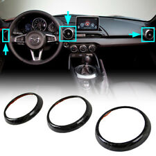 Roadster Interior Air Vent Frame Set Cover Carbon Fiber For Mazda MX-5 Miata