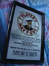 Players Navy Cut Mirror Advertising Sign.