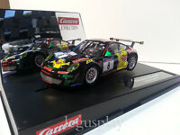 "Slot car SCX Scalextric Carrera 27457 Evolution Porsche GT3 RSR ""Haribo Racing"""
