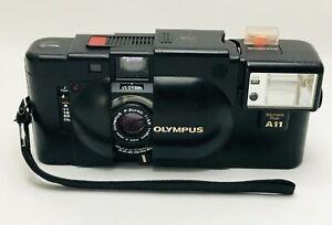 [Exc+5 w/ Strap] Olympus XA 35mm Rangefinder Film Camera w/ A11 Flash from JAPAN