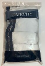 Omechy Mens Boxers Small 4-pack White Briefs Designed In Italy