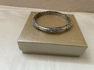 Artisan of Bali/Sarda Sterling Silver S-Swirl bangle bracelet size 7