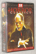 Horror Classics 50 Peliculas Bela Lugosi Lon Chaney Vincent Price DVD Box Set