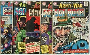 Our Army at War #158 - 202 (9 issues)  avg.  G/VG 3.0  DC  1965  No Reserve