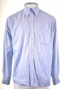 ROCCOBAROCCO Mens Shirt Size 16 1/2 42 Large Blue Cotton DW12