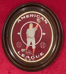 Rare Antique c. 1910 Boston Red Sox BBC Partial Baseball Pennant in Period Frame