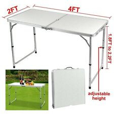 Outdoor 4 Foot Aluminium Folding Portable Camping Picnic Party Dining Table