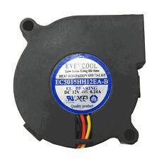 Evercool EC5015HH12EA-B 50mm x 15mm 12V 0.24A High Speed Blower Fan 3 pin