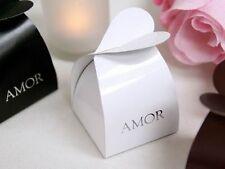 100 White AMOR Blanco Cajitas Recuerdos Para Bodas Hispanic Wedding Favors BOXES