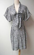 PAUL SMITH.Black Label printed cotton tie front shirt dress IT 42, UK 10, US 4