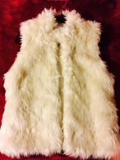 Women Warm Faux Fur Waistcoat Jacket Coat Short Slim Vest Gilet Outwear Tops M-L