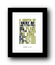 More details for the smiths ❤ this charming man ❤ song lyrics poster art limited edition print #3