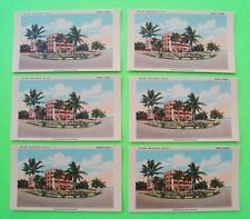 SIX 1950's MIAMI FLORIDA MIRAMAR HOTEL BLOTTERS Unused OBSOLETE HOTEL Artistic