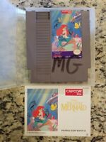 The Little Mermaid -NES- Original  Game Cartridge WITH MANUAL AND OEM CLAMSHELL