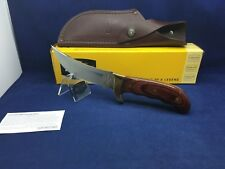 2015 Buck 0401RWS-B Kalinga Knife Rosewood Handle & Leather Sheath Mint In Box