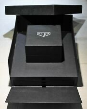 TAG Heuer Vintage leather black watch box with outer maxi box