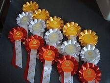 ORO Argento e Bronzo Cane Rosettes ideale per trainer, S Award x 15 (codice MR 4)