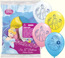 Cinderella Latex Balloons (Pack of 6)