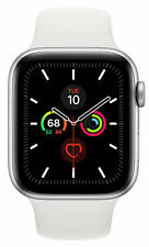 Apple Watch Series 5 GPS 44mm 32GB Smart Watch - Silver Aluminium White Band