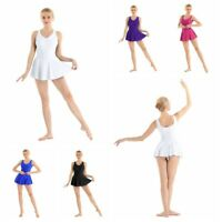 Women's Adult Ruched V-neck Leotard Ballet Dress Gymnastics Dance Dress Costume