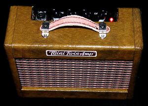 UNIKAT! Fender Mini '57 Twin Amp laquerd Tweed 2x Visaton Gitarre Verstärker AMP