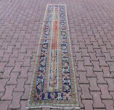 Nomadische Traditional Handmade Läufer Teppich Oushak Oriental Vintage 0.8x3m