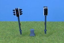 OO/HO Painted Pedestrian Crossing Lights & Zebra Crossing P&D Marsh PDZ47 - F1