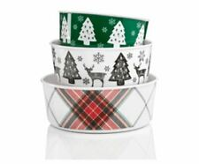 Martha Stewart $37 NWT 6 Pc Set Melamine Nesting Bowls Holiday New In Package