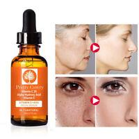 Vitamin C Serum Acne Facial Hyaluronic HA Ferulic Acid Organic Anti-Aging Face