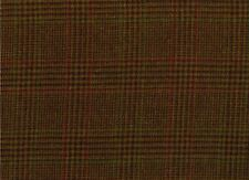 Abraham Moon Fabric 100% Wool Brown Tan Check with Red Overcheck Ref 1814/27