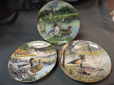 1986 Living w/ Nature Jerners Ducks 1st, 2nd & 3rd Issue Wildlife Plates Lot (3)