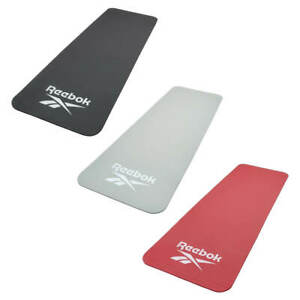 Reebok Exercise Mat Thick Large Padded Workout Gym Yoga Fitness 7mm 10mm or 15mm