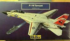 VINTAGE HELLER F-14 TOMCAT JET FIGHTER MODEL KIT 30 PIECES SCALE 1:144