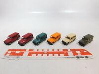 CA465-0,5# 6x Wiking 1:87/H0 PKW/Geländewagen Mercedes-Benz/MB G-Klasse, NEUW