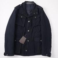 NWT $1325 BALLANTYNE Navy Blue Soft Wool Field Jacket M (Eu 48) Insulated Lining