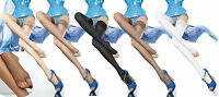 Fiore Eluxa Open Toe Hold-ups 20 Denier Sheer Toeless Hold Ups to Size S,M,L,XL