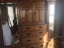 More details for large edwardian antique vintage wardrobe - dismantles into 5 parts