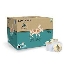 Caribou Blend Coffee 100 K cups Keurig Brewers Rainforest Alliance Certified