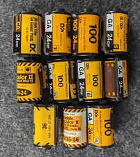 Kodak Gold Lomo Lot (100Asa. 11 Mixed Rolls. See Description.)