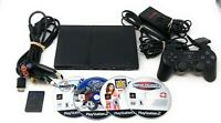 Sony PlayStation PS2 Slim Console + 4 Games Bundle Lot!!! FAST SHIPPING!!!