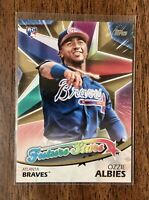 2018 Topps Ozzie Albies Future Stars Gold Rookie 04/50 #FS-7 SSP Braves +1 RC SP