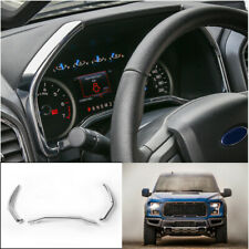 Interior Dashboard Frame Cover Trim 3pcs Fit For Ford F-150 2015-2020 Chrome ABS