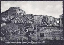 SIRACUSA CITTÀ 43 CASTELLO EURIALO Cartolina viaggiata 1955
