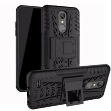 For Lg K9 2018 Hybrid Case 2 Pieces Outdoor Black Pouch Sleeve Case Cover New