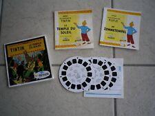 view master Tintin le temple du soleil - hergé 2 livrets un français un néerland
