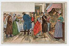P. KAUFFMAN.Usages & Costumes d'Alsace.24. Bénédiction de la bûche de NOËL .