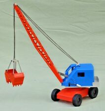 GAMA Wheeled Mobile Crane with Bucket, Plastic & Pressed Tin, West Germany